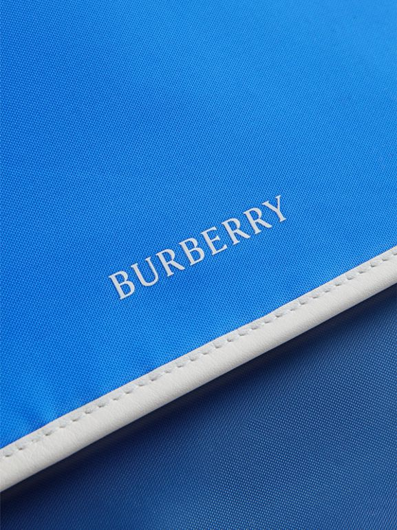 Large Tri-tone Nylon and Leather Messenger Bag in Deep Cerulean Blue - Men | Burberry Canada - cell image 1