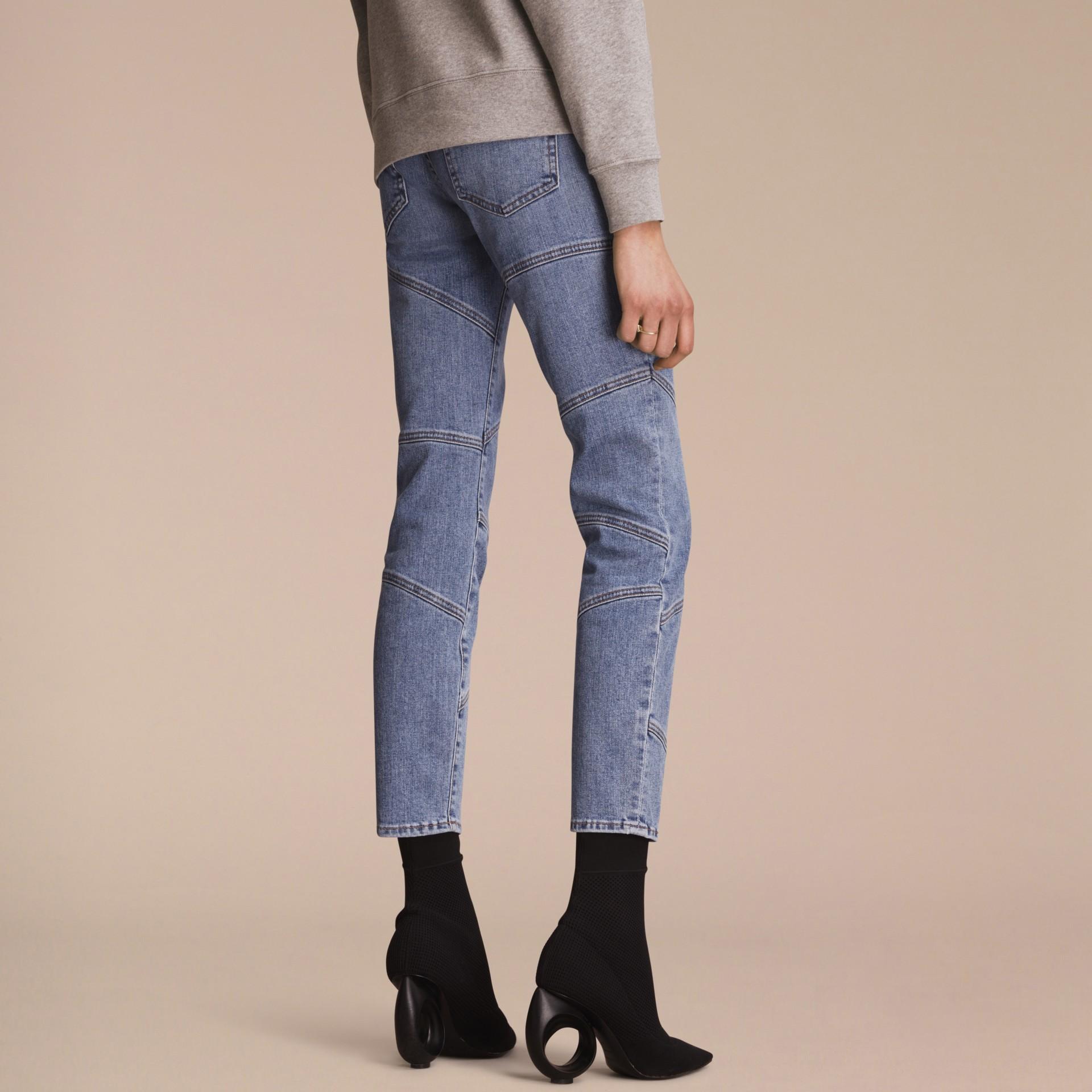 Slim Fit Seam Detail Japanese Denim Jeans - gallery image 3