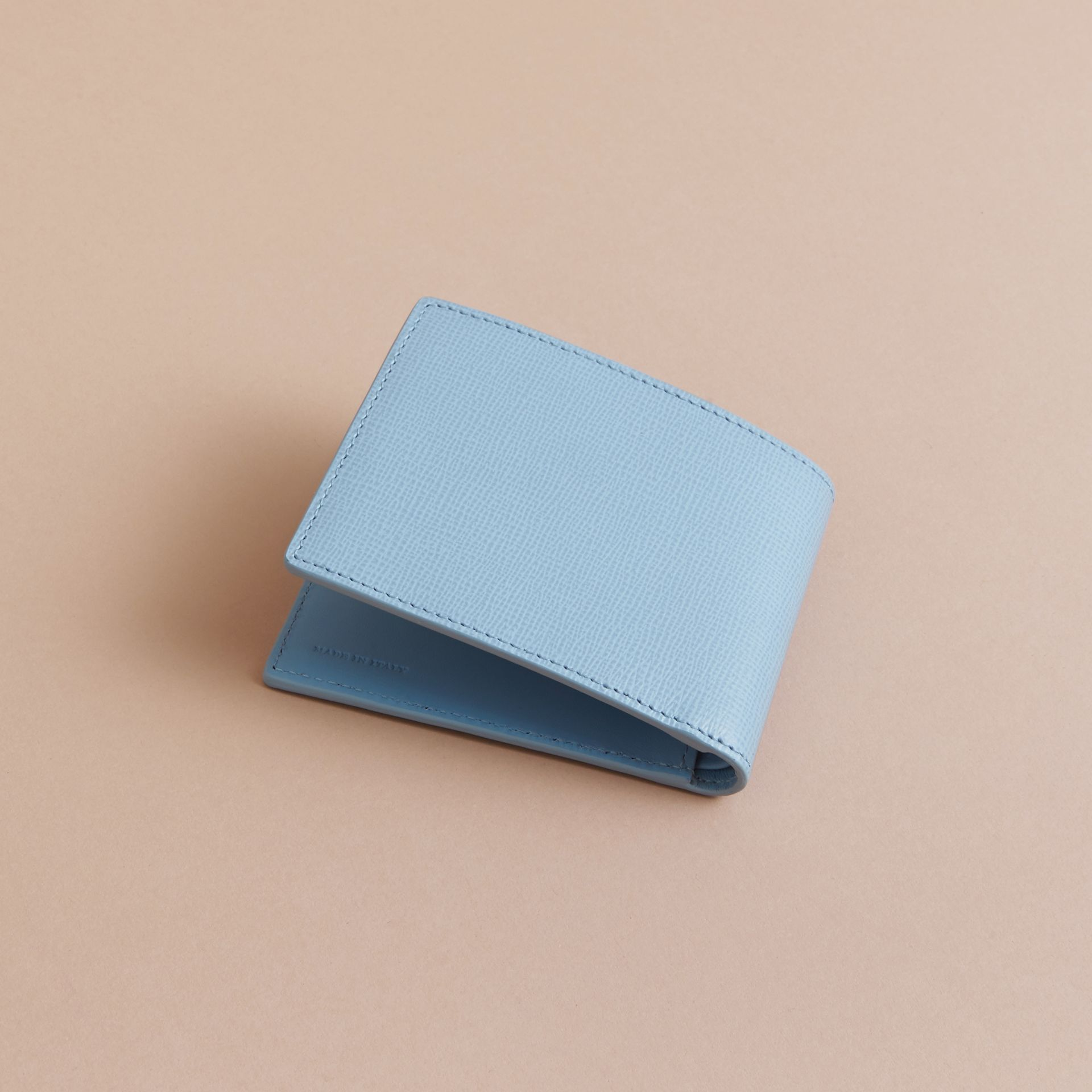 London Leather Bifold Wallet in Powder Blue - gallery image 4