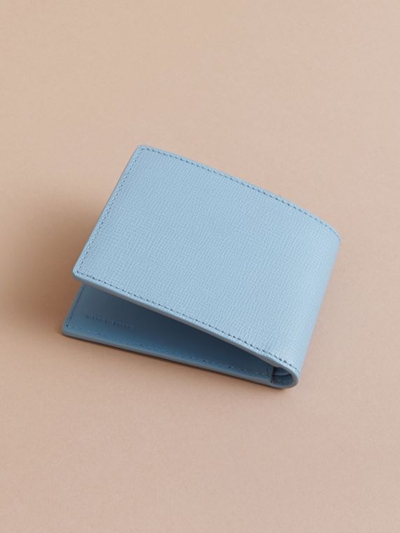 London Leather Bifold Wallet in Powder Blue - cell image 3