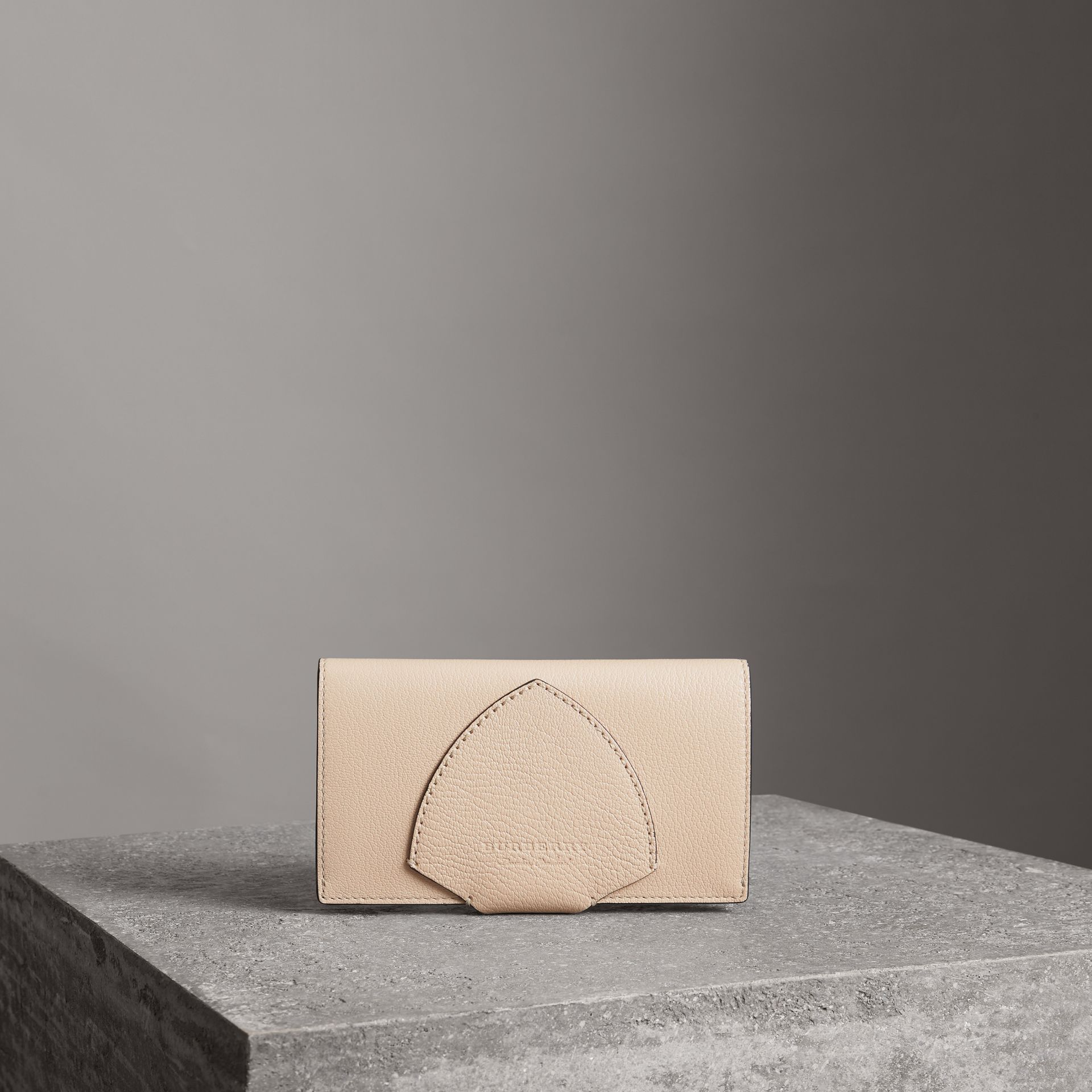 Equestrian Shield Two-tone Leather Continental Wallet in Stone - Women | Burberry United Kingdom - gallery image 0