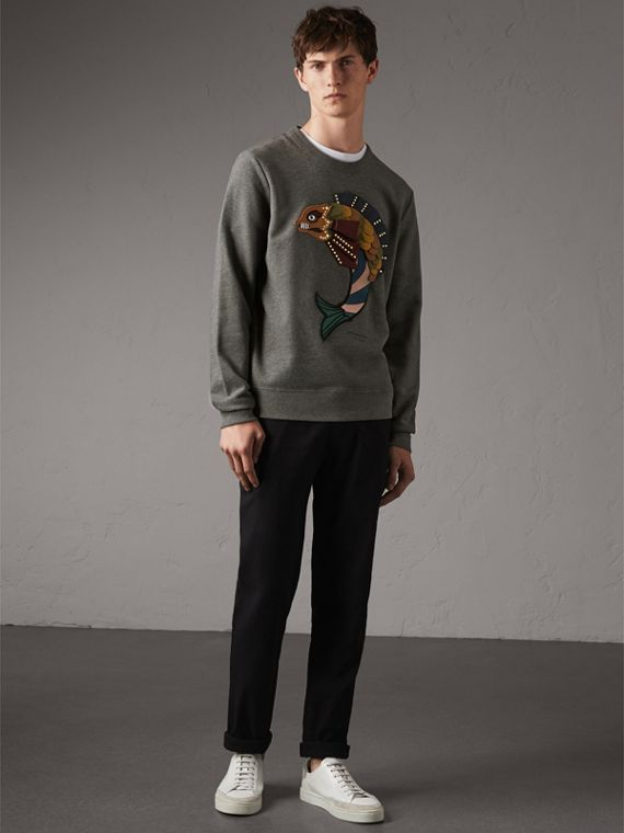 Beasts Appliqué Cotton Sweatshirt - Men | Burberry
