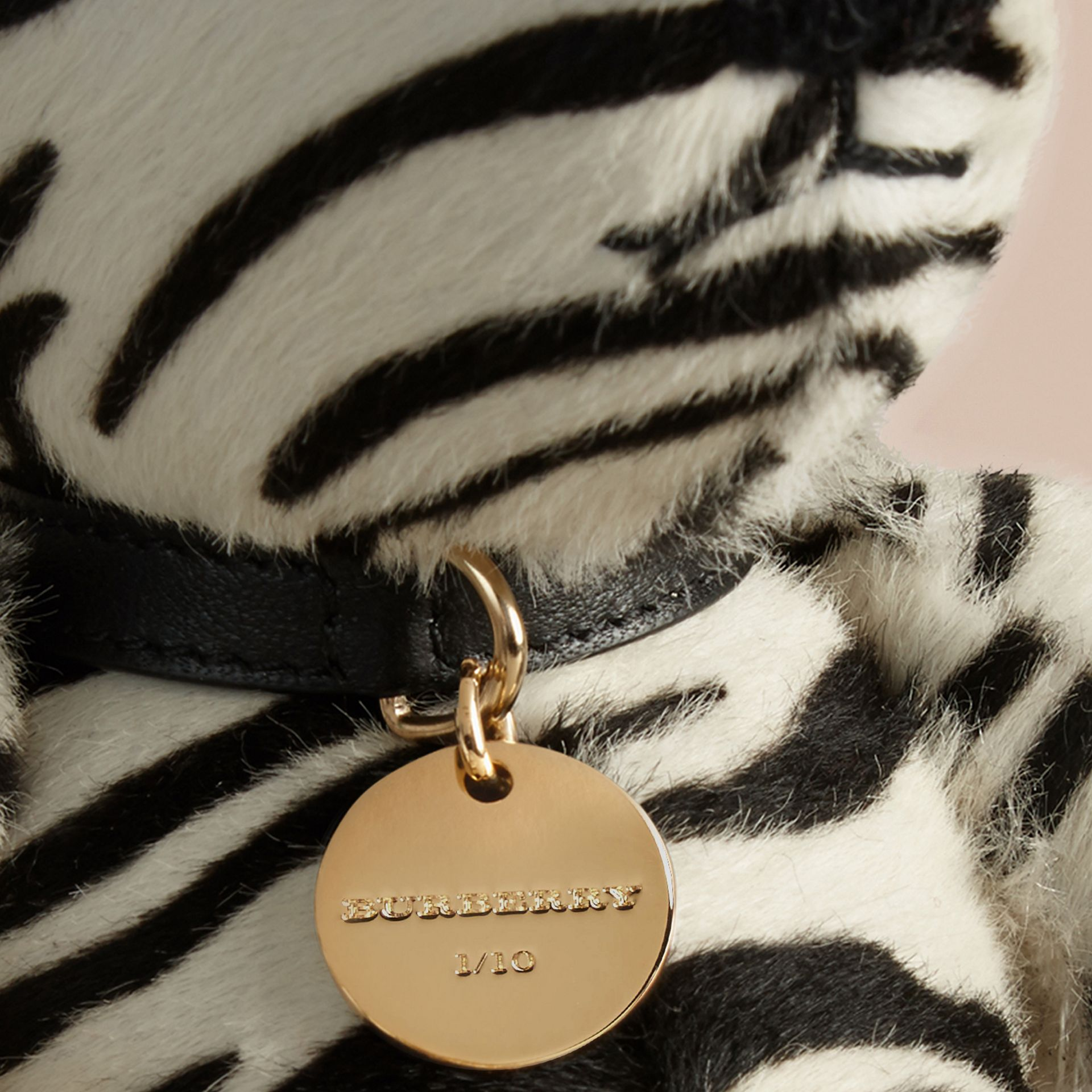 Natural Thomas Bear in Zebra Calfskin - gallery image 2