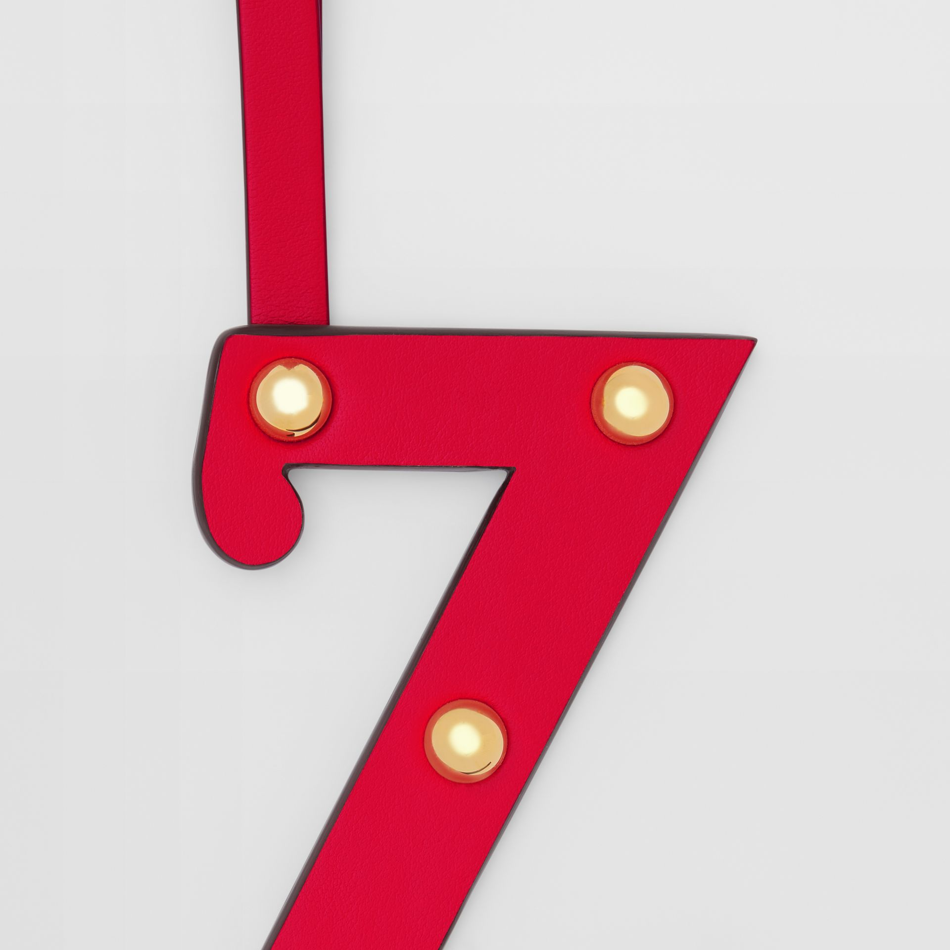 'Z' Studded Leather Alphabet Charm in Red/light Gold - Women | Burberry - gallery image 1