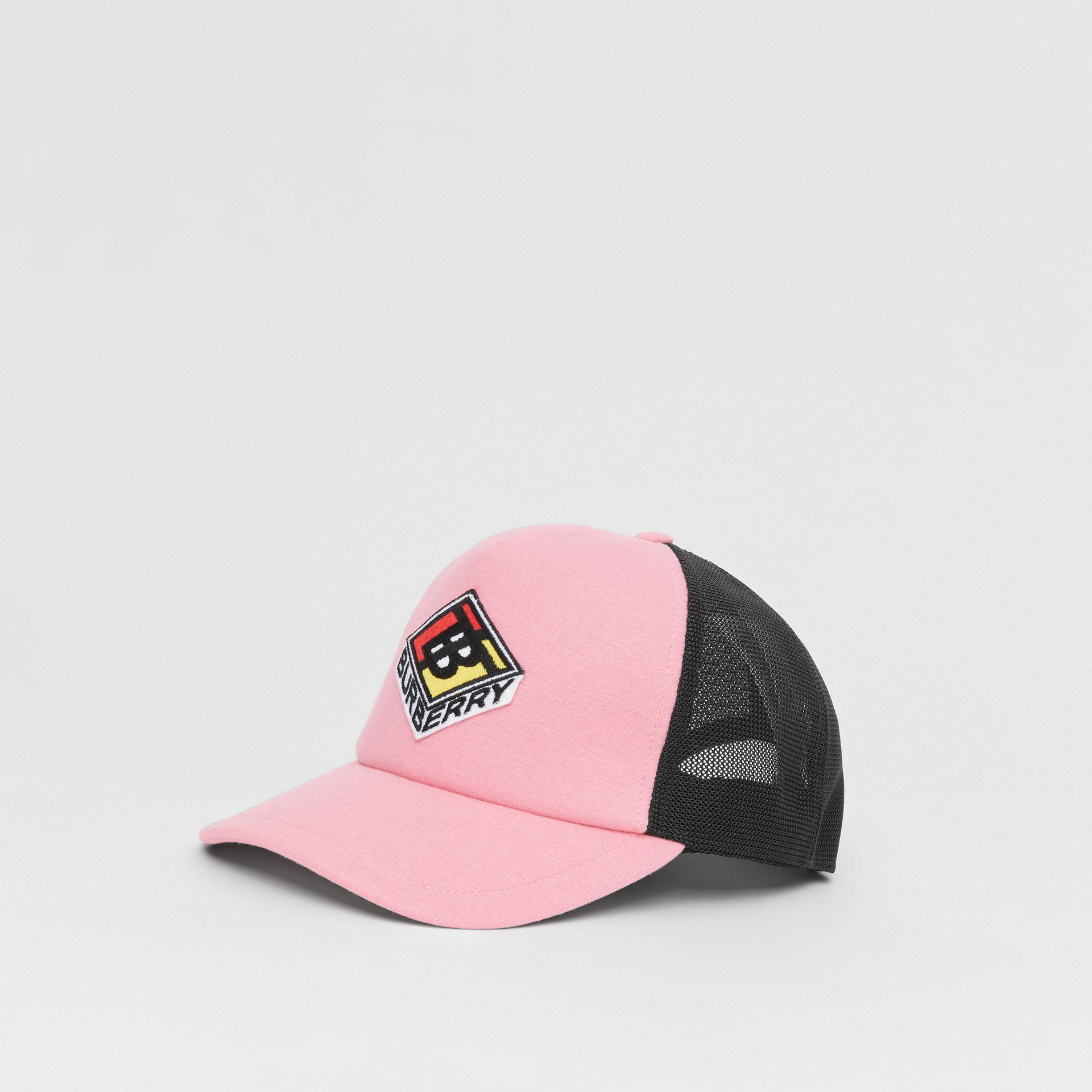 Logo Graphic Baseball Cap in Pink | Burberry Singapore - gallery image 4