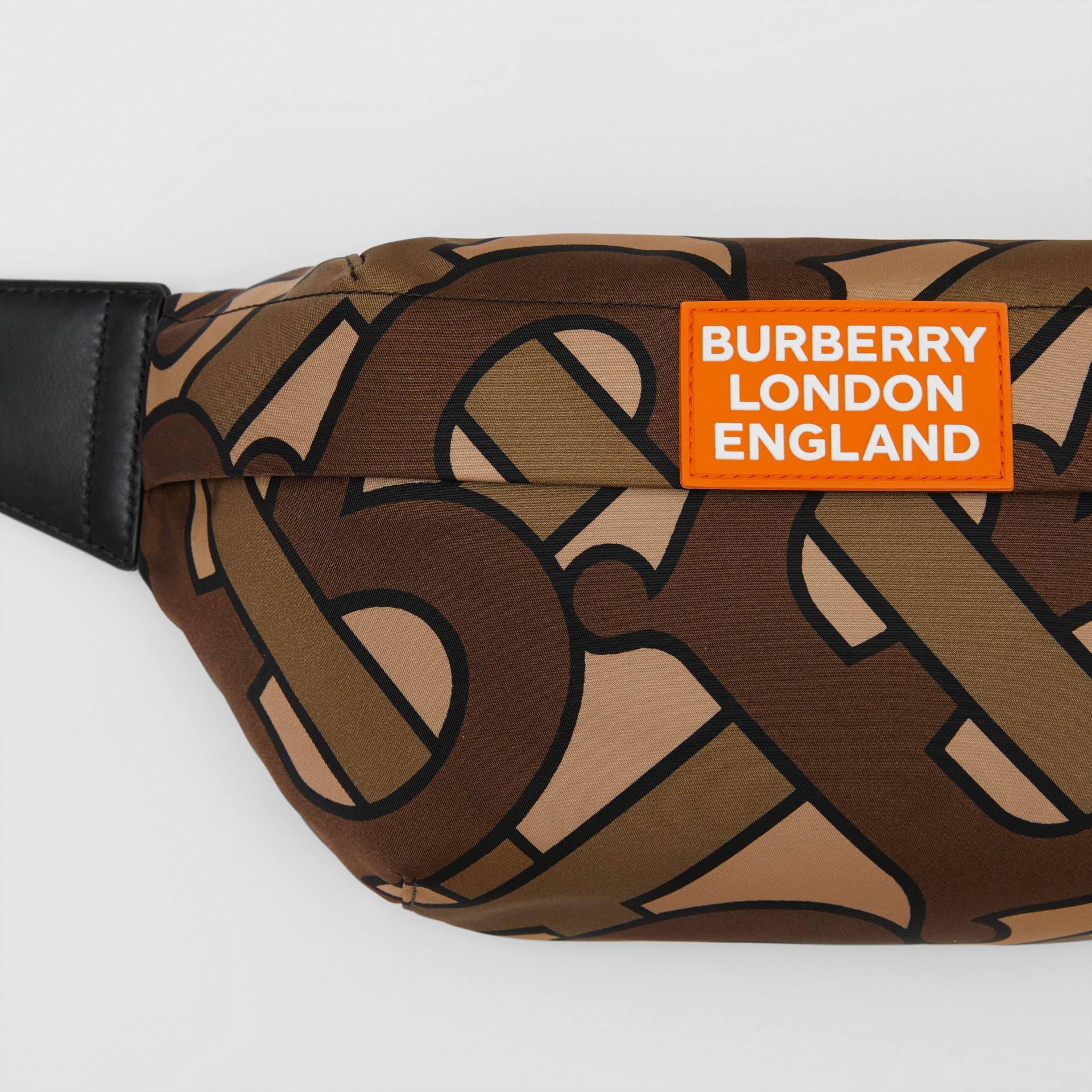 Monogram Print Nylon Sonny Bum Bag in Bridle Brown - Men | Burberry - gallery image 1