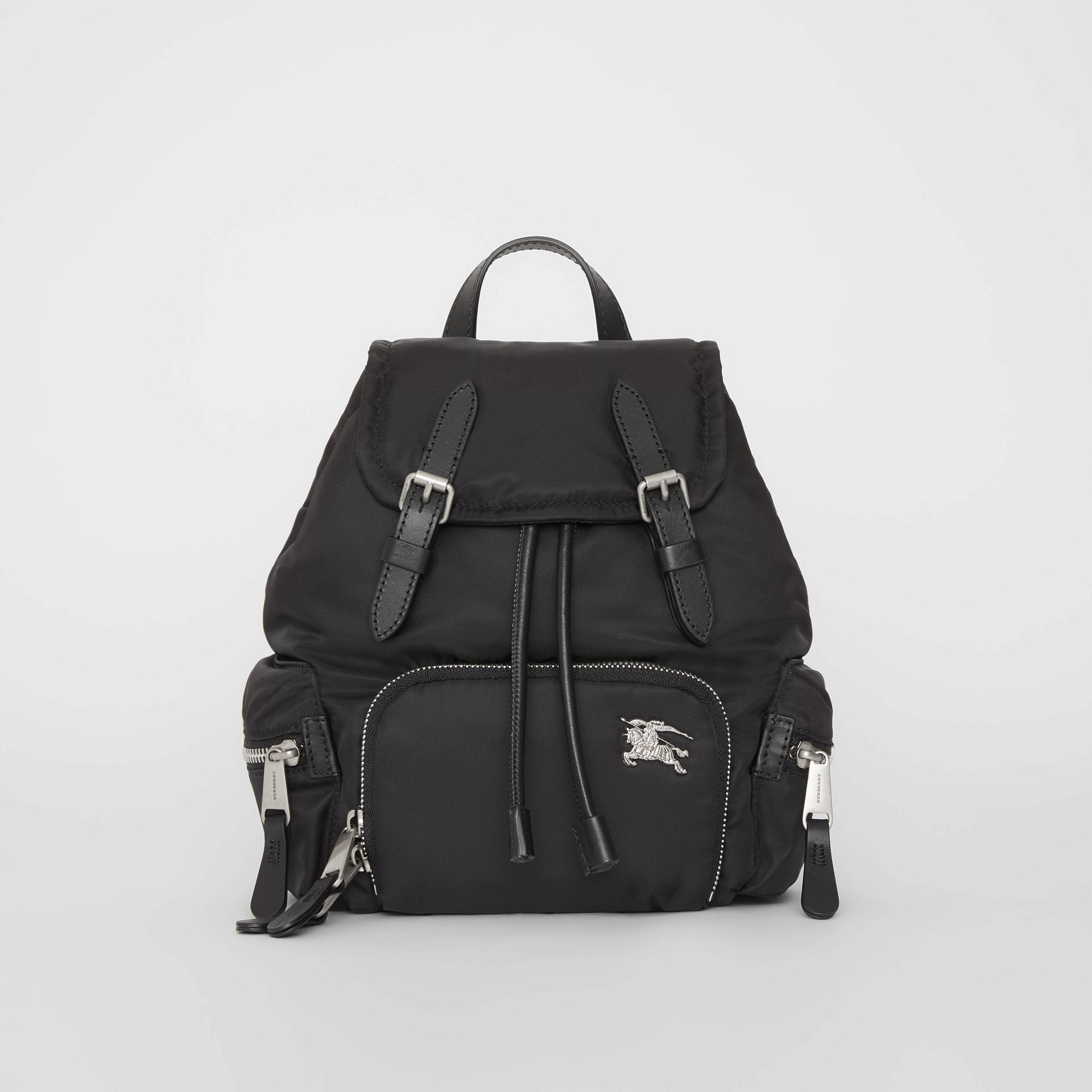 The Small Crossbody Rucksack in Puffer Nylon in Black - Women | Burberry - gallery image 0
