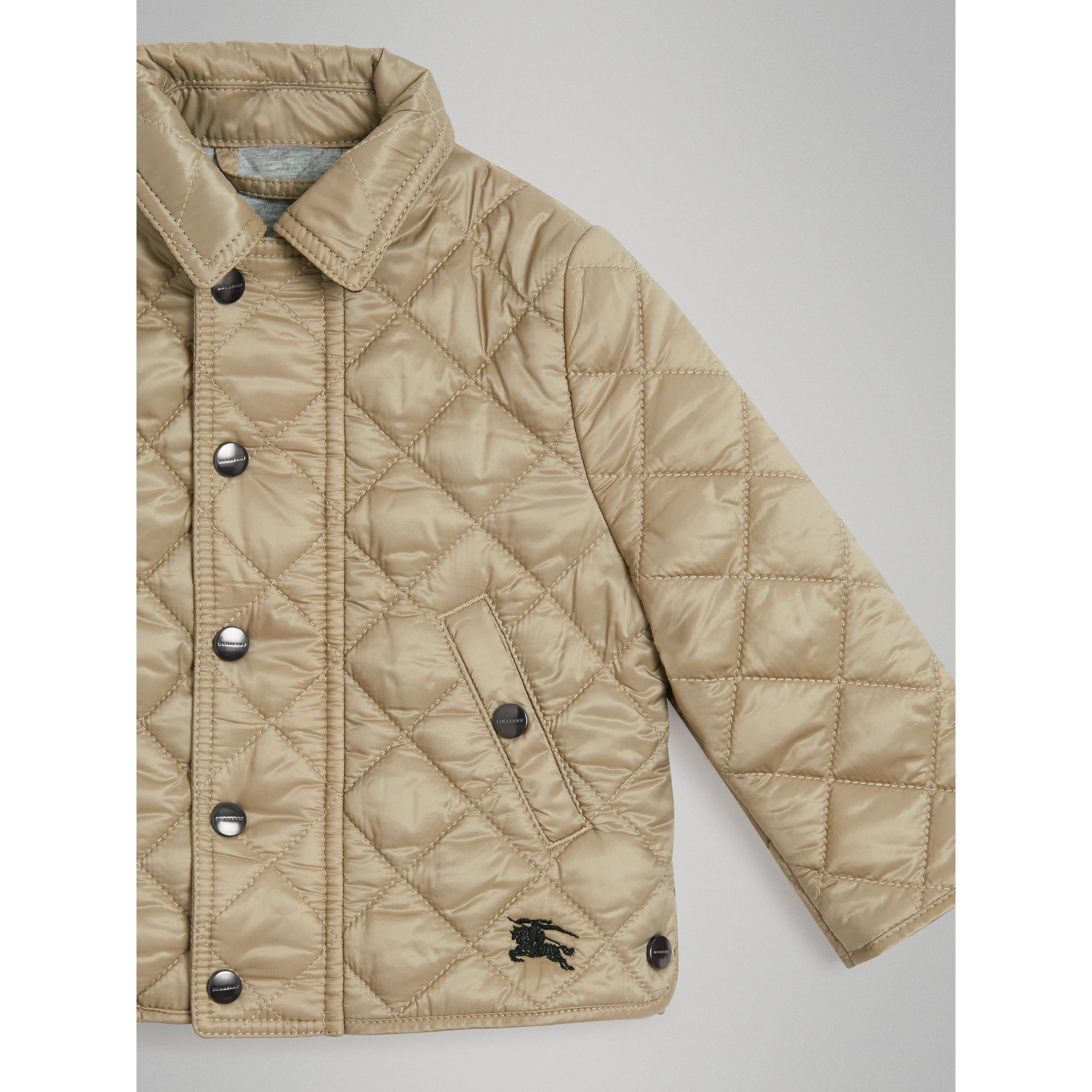 Lightweight Diamond Quilted Jacket in Mink | Burberry United Kingdom - gallery image 3