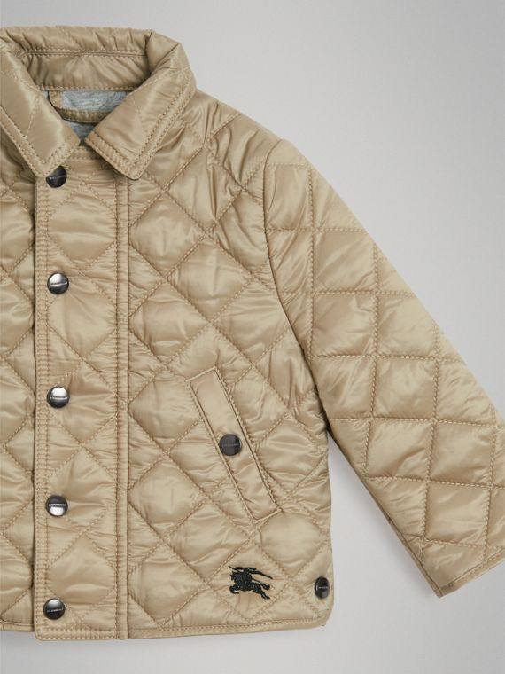 Lightweight Diamond Quilted Jacket in Mink | Burberry United Kingdom - cell image 3