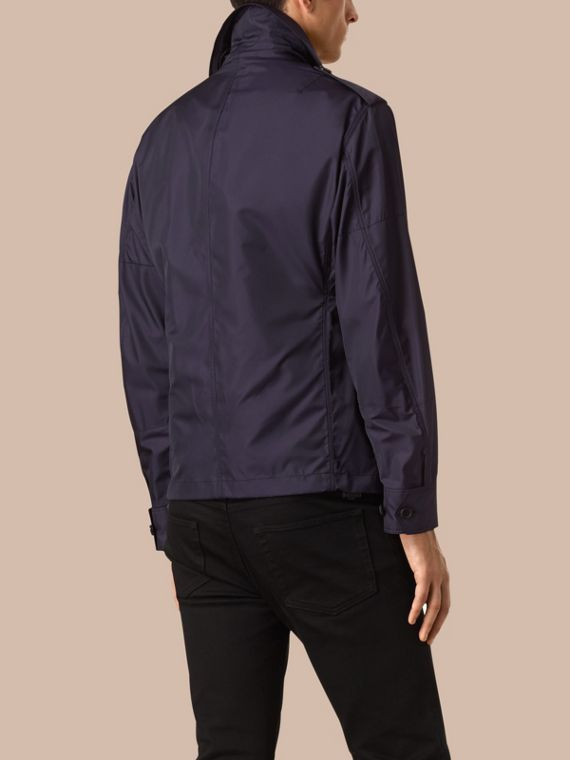 Ultramarine Silk Blend Field Jacket with Detachable Warmer - cell image 2