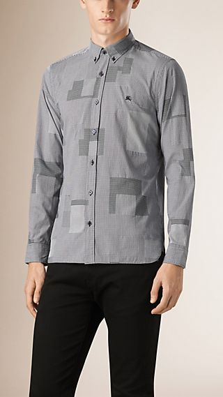 Woven Check Cotton Shirt