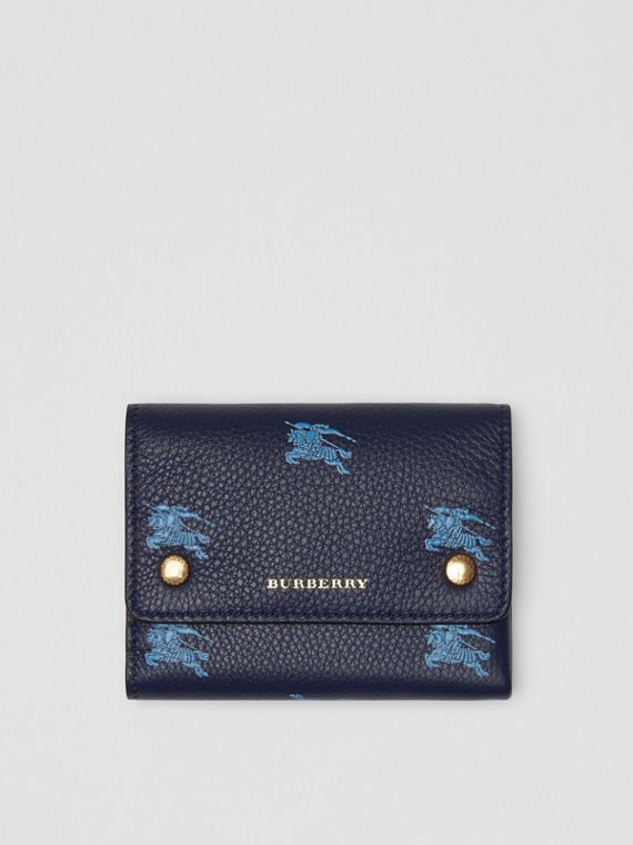 Small EKD Leather Wallet in Regency Blue