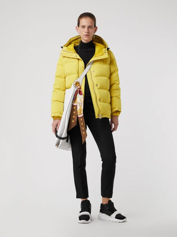 Archive Logo Down-filled Hooded Puffer Jacket in Dandelion