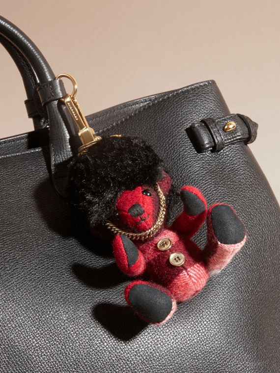 The Guardsman Thomas Bear Charm in Check Cashmere | Burberry - cell image 2