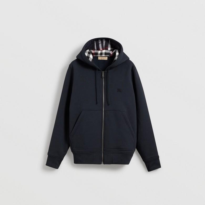 Burberry - Haut en jersey à capuche avec détails check - 4