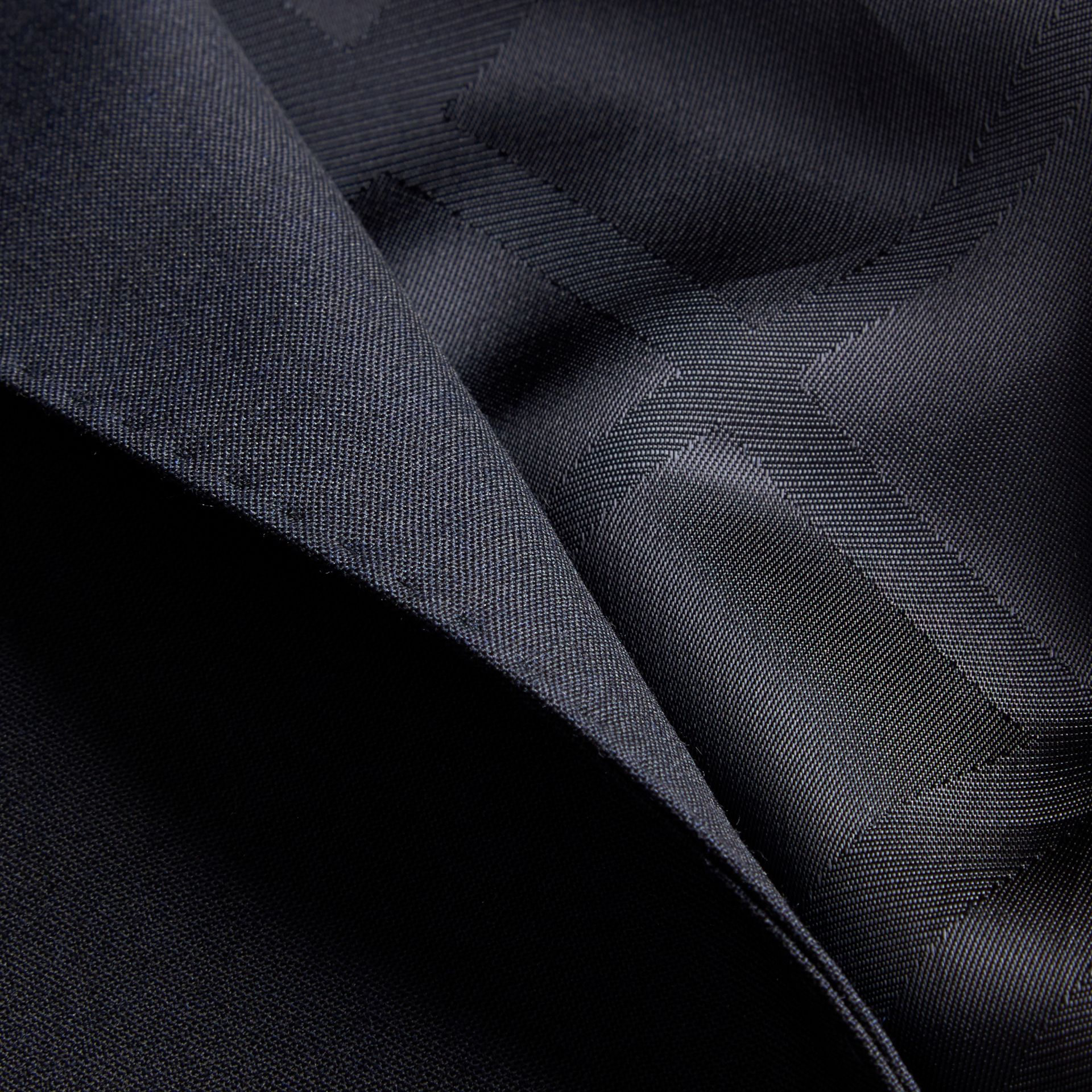 Modern Fit Wool Part-canvas Suit in Navy - Men | Burberry United States - gallery image 2