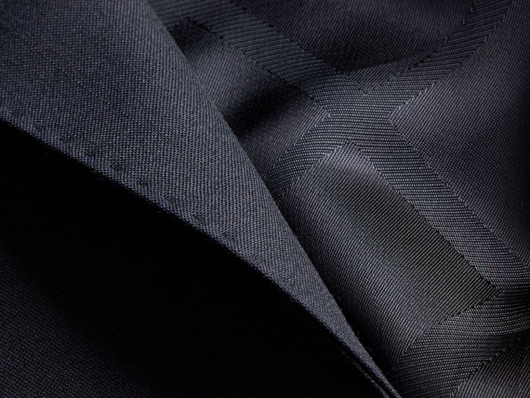 Modern Fit Wool Part-canvas Suit Navy - cell image 1
