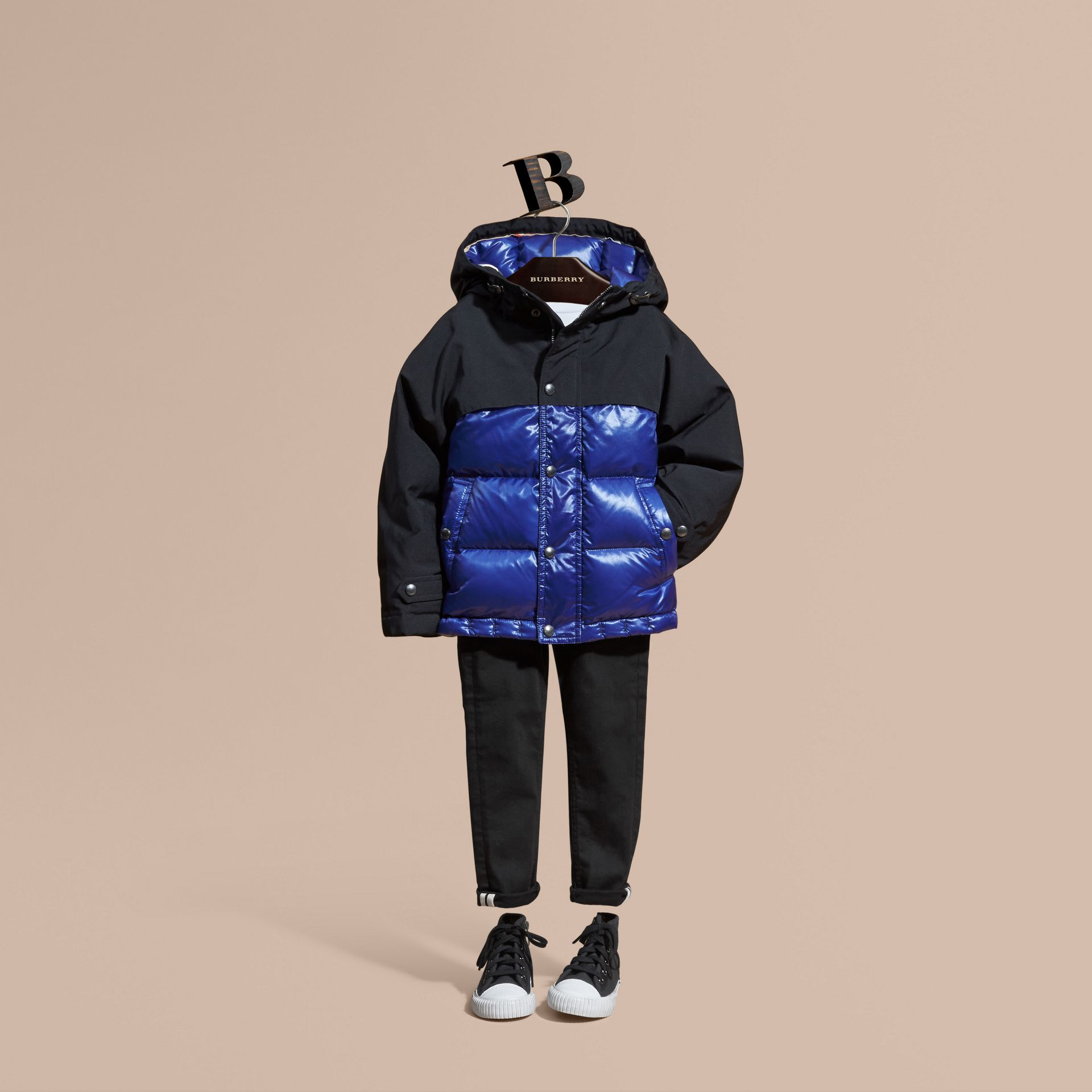 Shower-resistant Down-filled Puffer Coat - gallery image 1