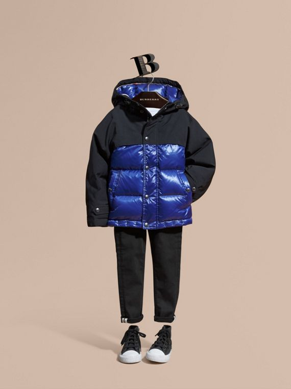 Shower-resistant Down-filled Puffer Coat