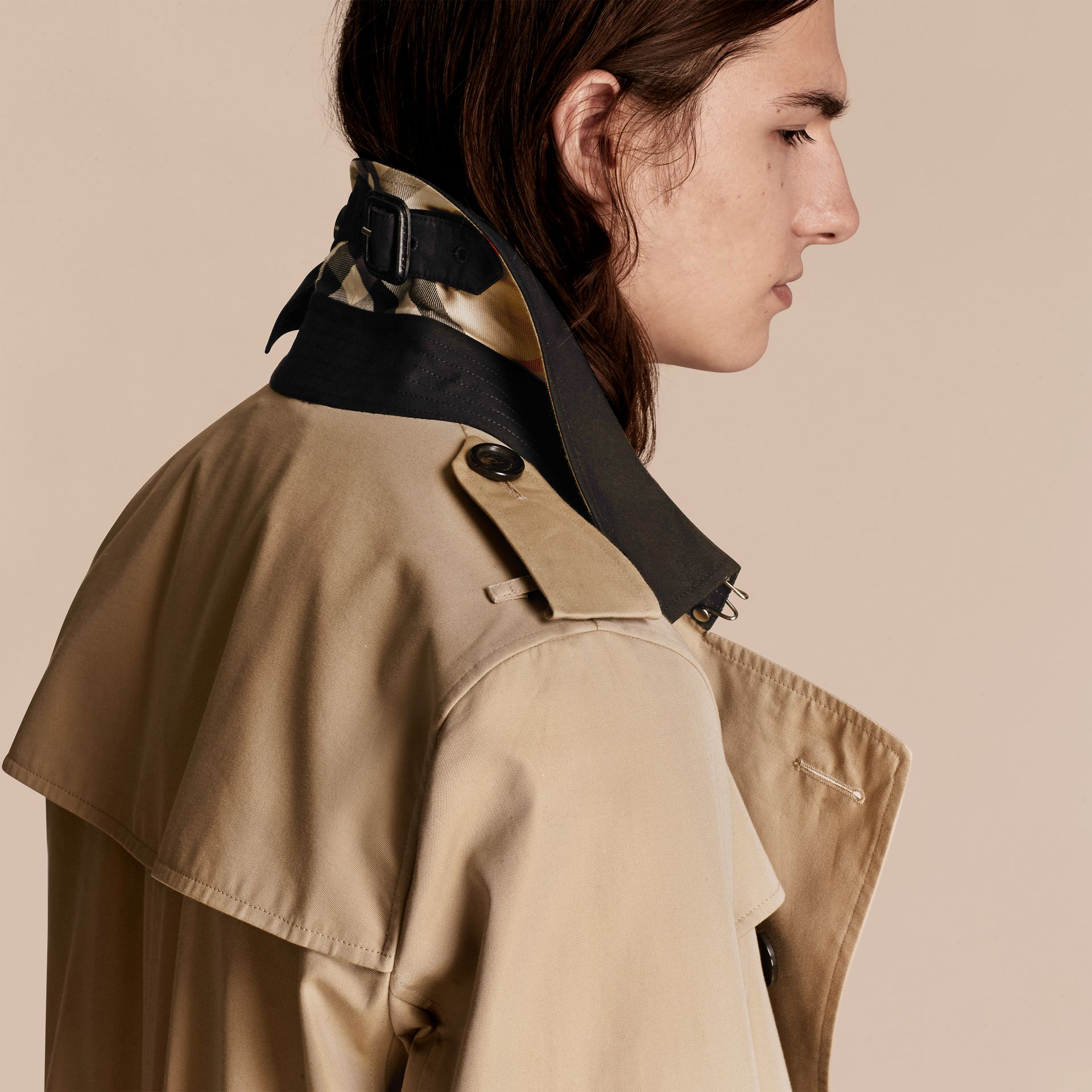 Honey Deconstructed Cotton Gabardine Heritage Trench Coat - gallery image 5