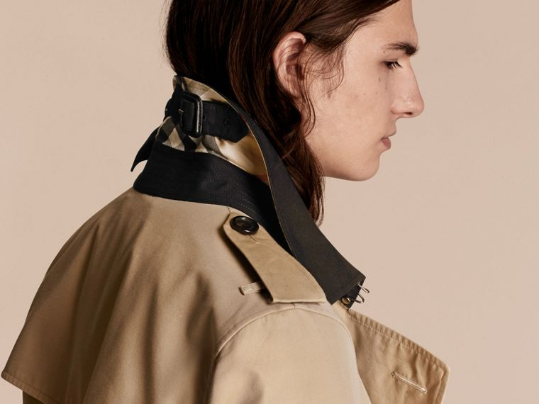 Deconstructed Cotton Gabardine Heritage Trench Coat - cell image 4