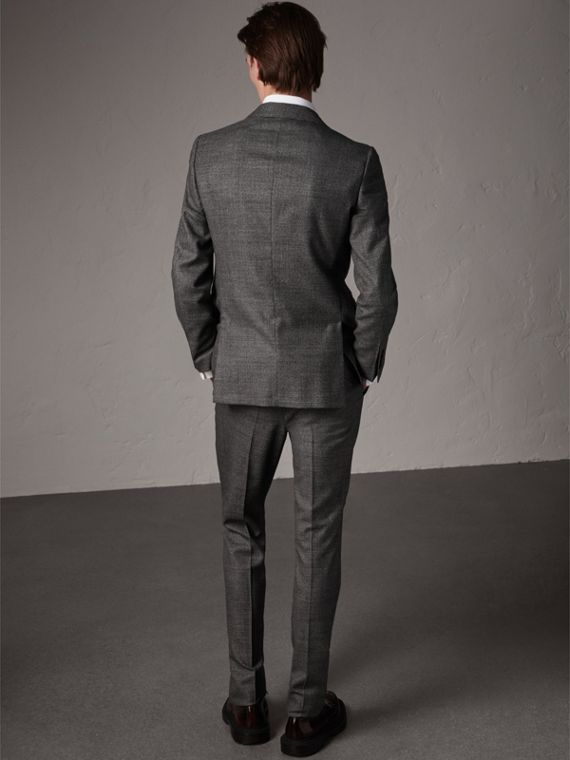Soho Fit Houndstooth Check Wool Suit in Dark Grey Melange - Men | Burberry - cell image 2