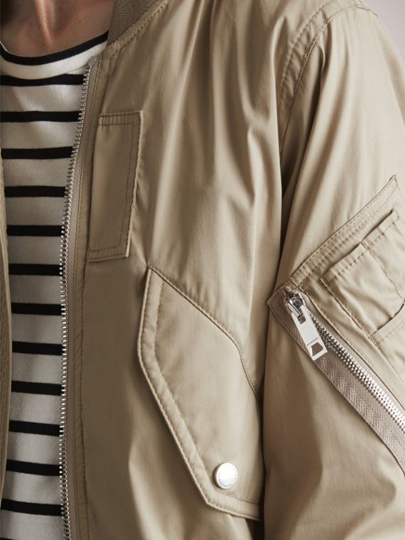 Cotton Blend Twill Bomber Jacket - cell image 2