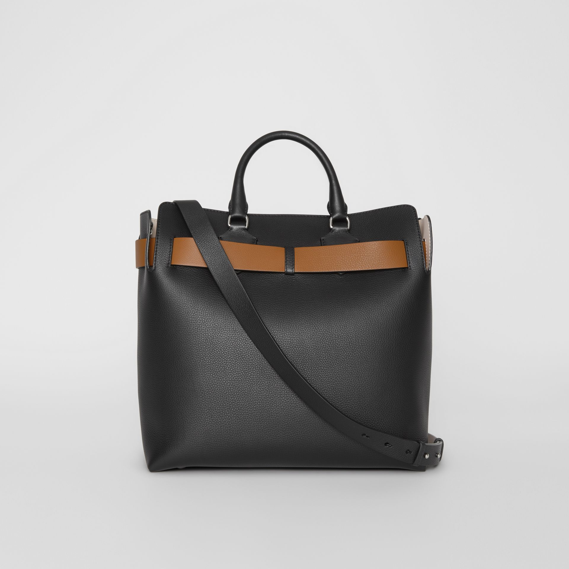 The Large Leather Belt Bag in Black - Women | Burberry - gallery image 7