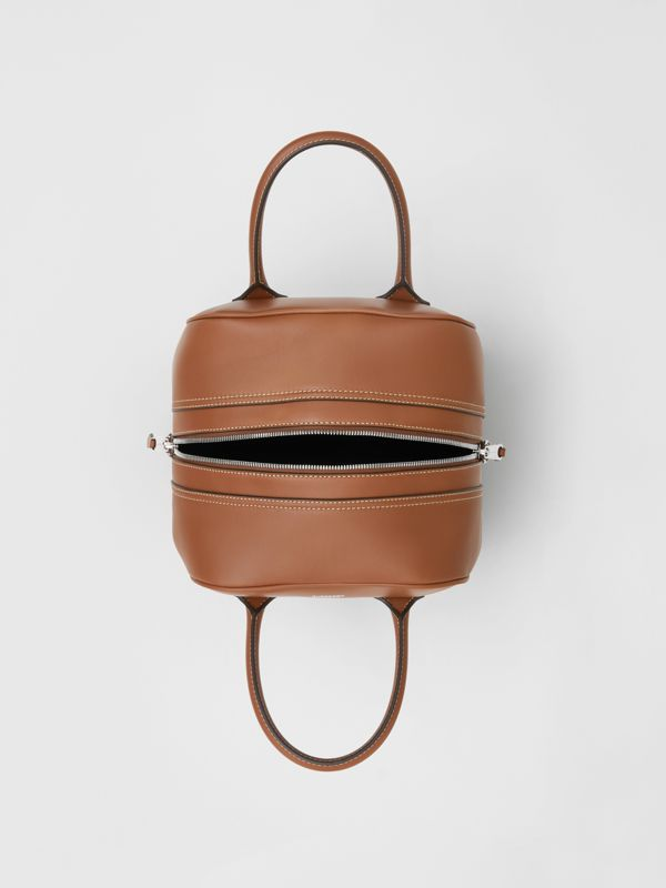 Small Leather Cube Bag in Malt Brown - Women | Burberry - cell image 3