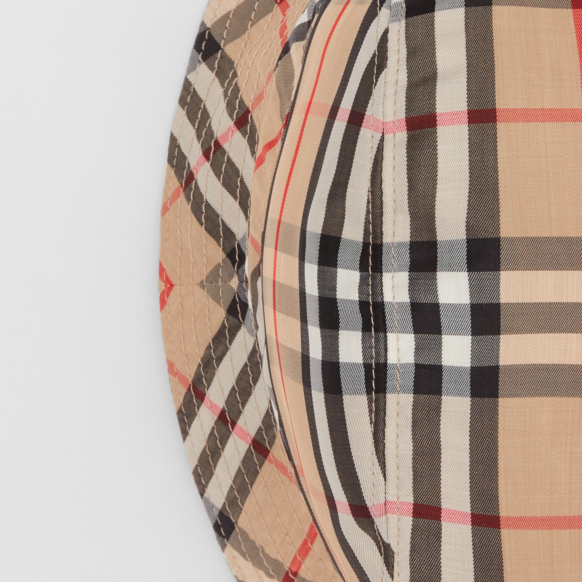Vintage Check Bucket Hat in Archive Beige | Burberry Australia - gallery image 1