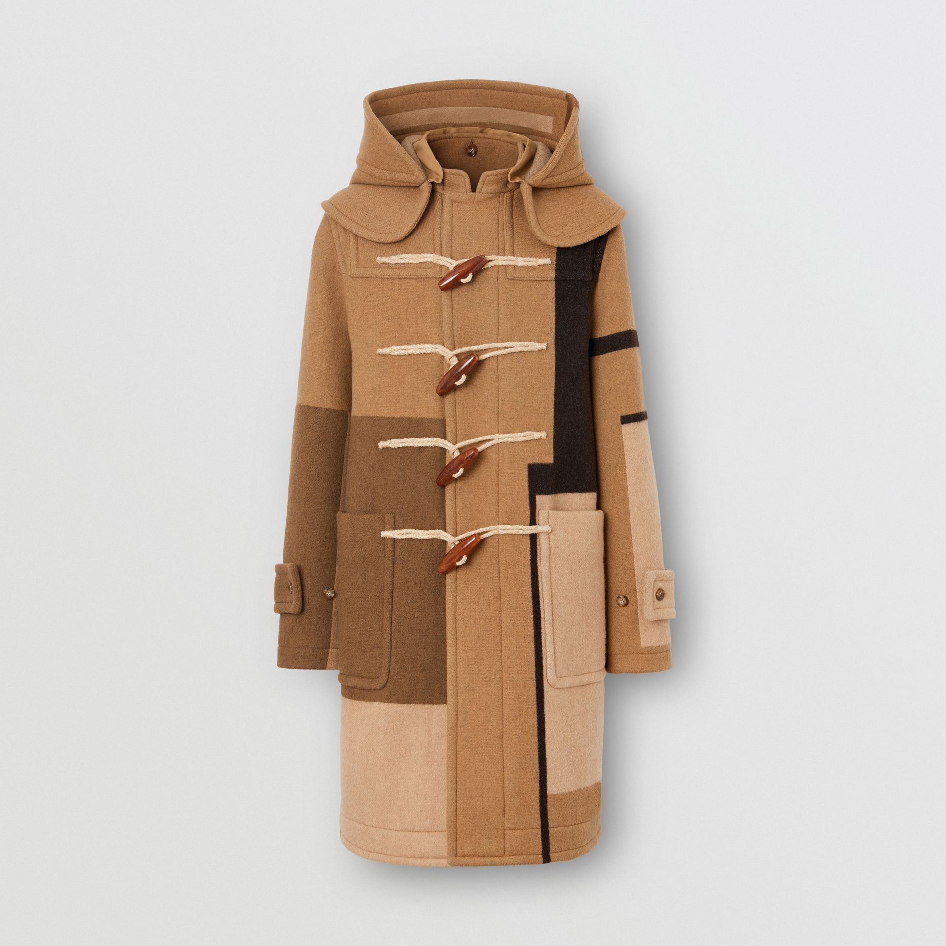 Panelled Wool Duffle Coat in Warm Camel - Men | Burberry Singapore - gallery image 3