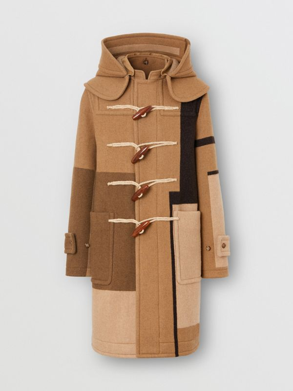 Panelled Wool Duffle Coat in Warm Camel - Men | Burberry - cell image 3
