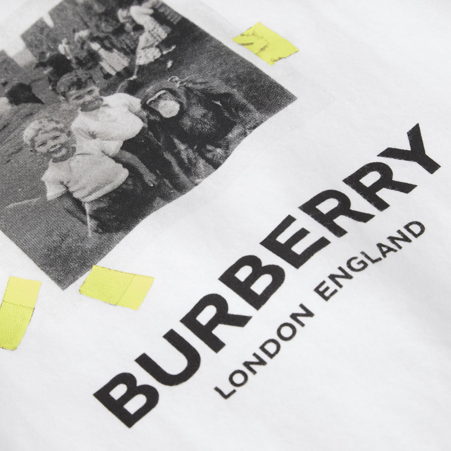 Vintage Photo Print Cotton Vest in White - Children | Burberry United Kingdom - gallery image 1