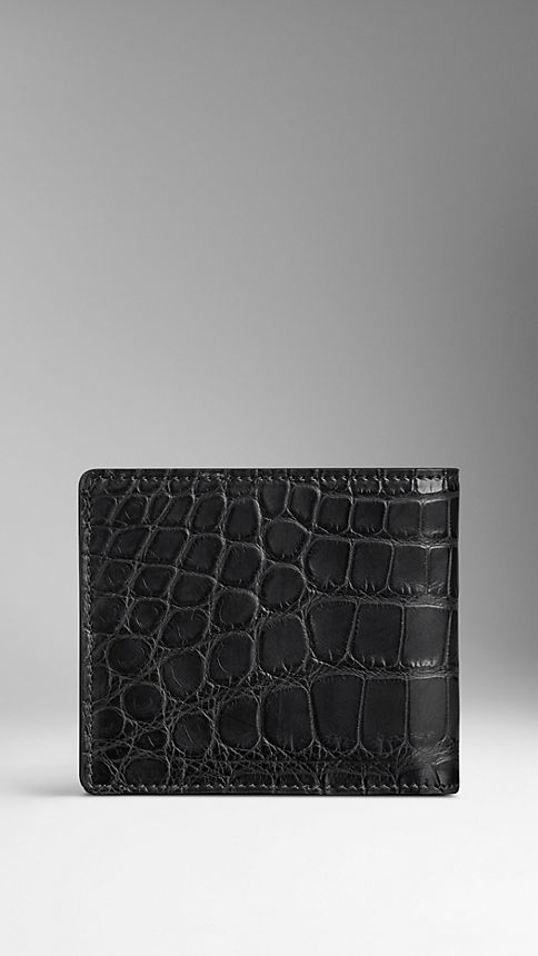 Black Alligator Folding Wallet - Image 2
