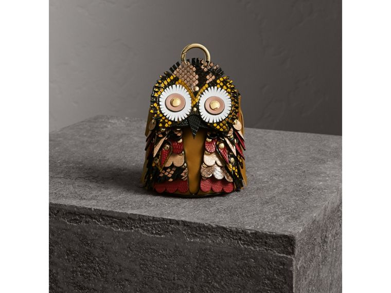 The Owl – Leather and Snakeskin Coin Case in Pale Apricot - Women | Burberry Singapore - cell image 4