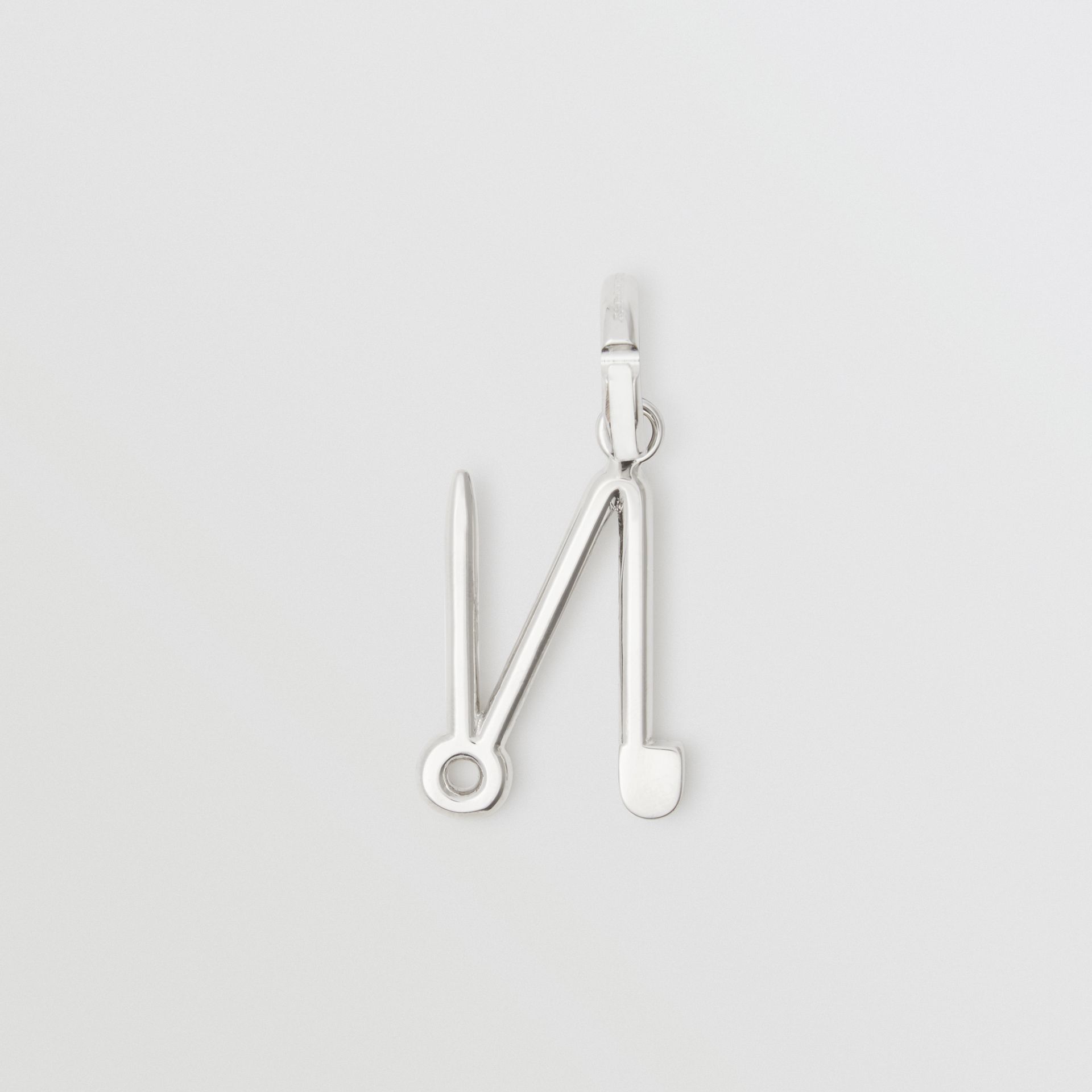 Kilt Pin 'N' Alphabet Charm in Palladio - Women | Burberry - gallery image 1