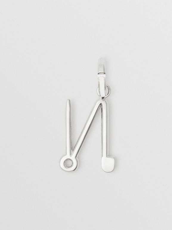 Kilt Pin 'N' Alphabet Charm in Palladio - Women | Burberry - cell image 1