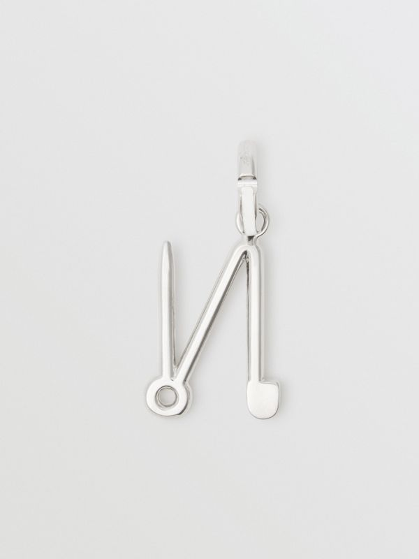 Kilt Pin 'N' Alphabet Charm in Palladio - Women | Burberry - cell image 3