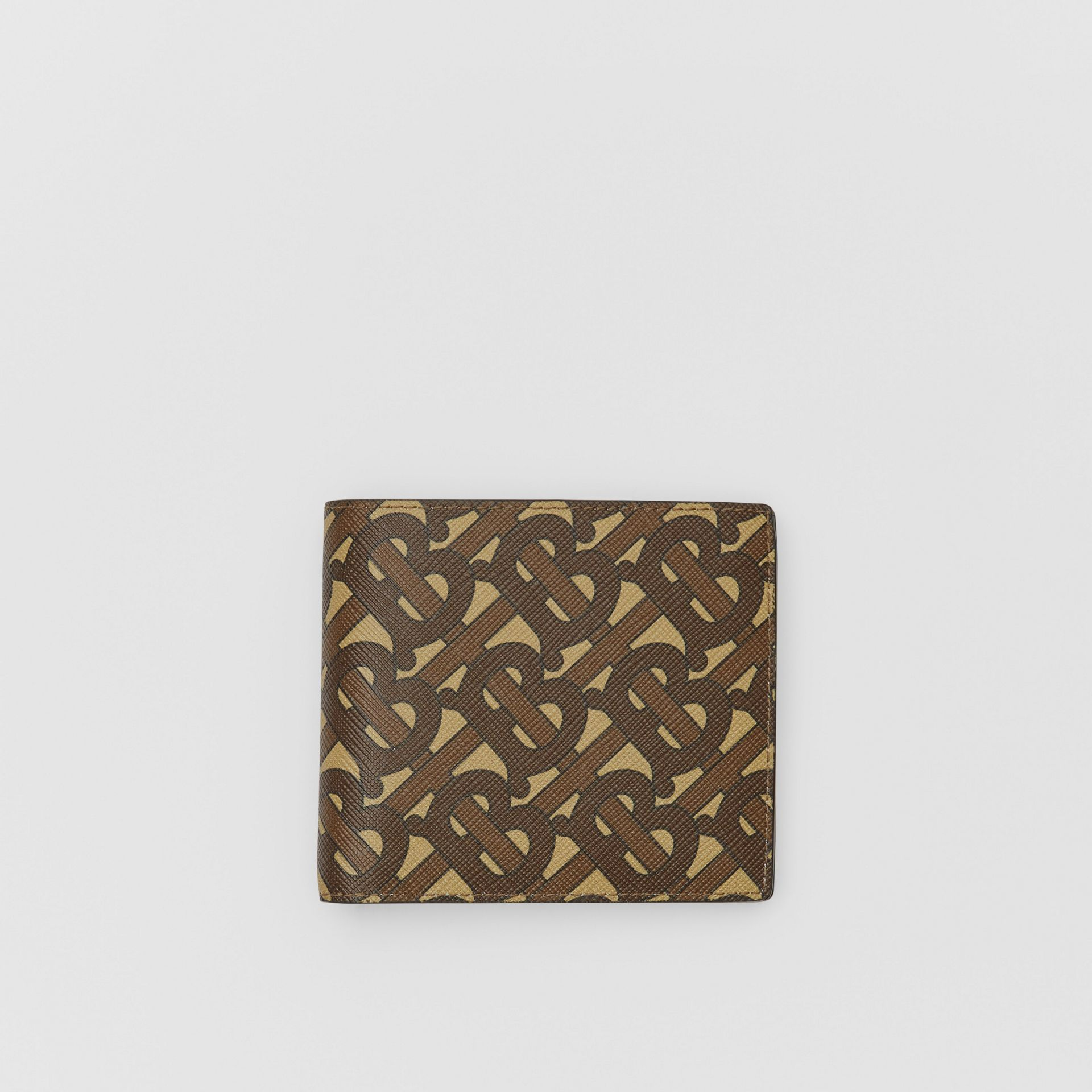 Monogram E-canvas International Bifold Coin Wallet in Bridle Brown - Men | Burberry Australia - gallery image 0
