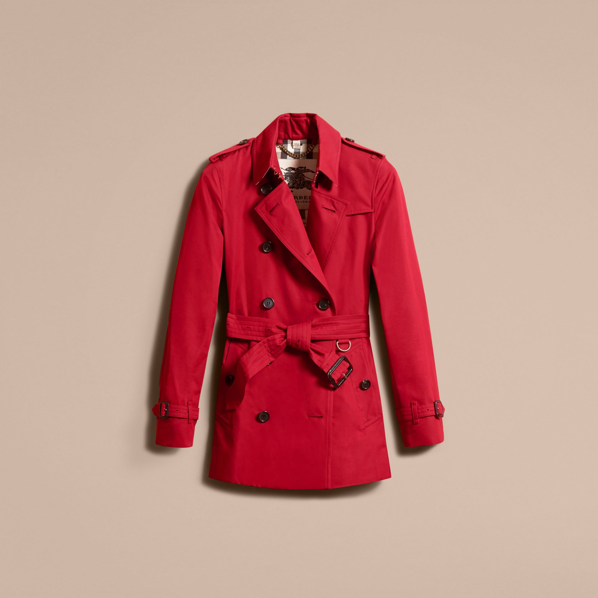 Parade red The Kensington – Short Heritage Trench Coat Parade Red - gallery image 4