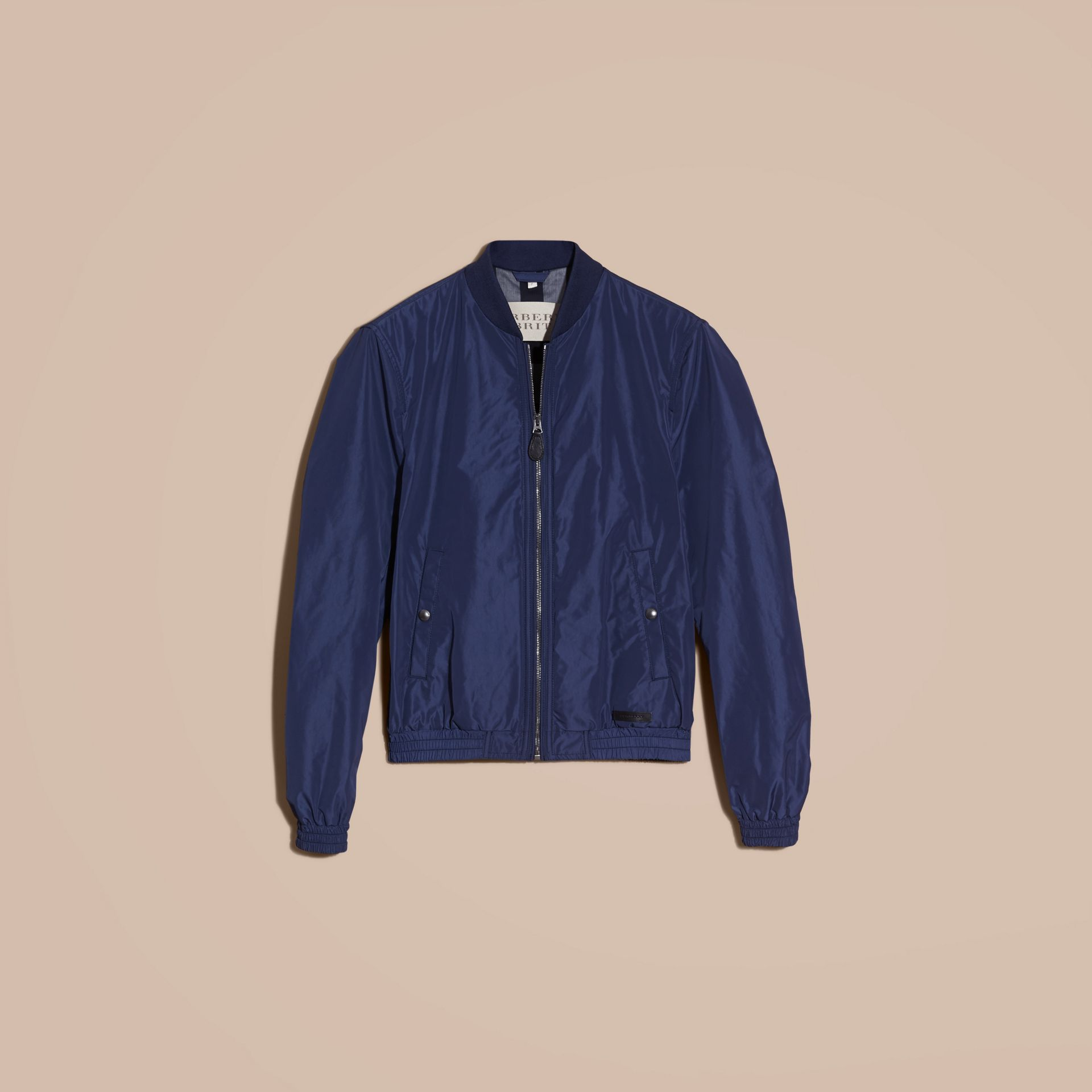 Jet blue Showerproof Bomber Jacket Jet Blue - gallery image 4