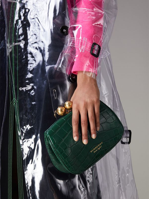 Small Alligator Frame Bag in Dark Green - Women | Burberry - cell image 2