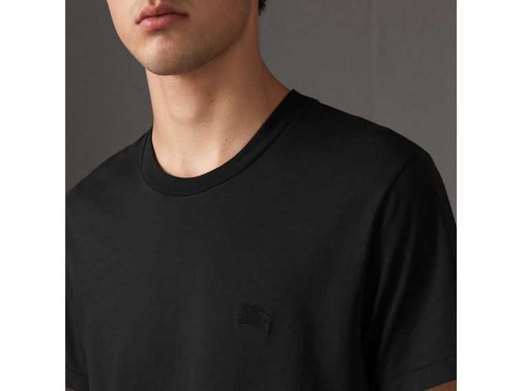 Cotton Jersey T-shirt in Black - Men | Burberry Singapore - cell image 1