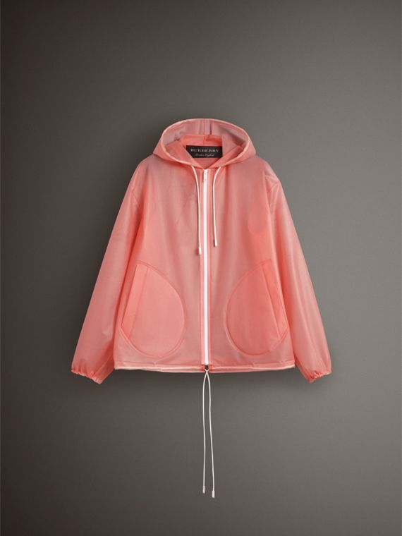 Soft-touch Plastic Cagoule in Rose Pink - Women | Burberry Singapore - cell image 3