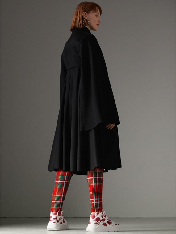 Tailored Doeskin Wool Cape in Black - Women | Burberry Hong Kong - cell image 2