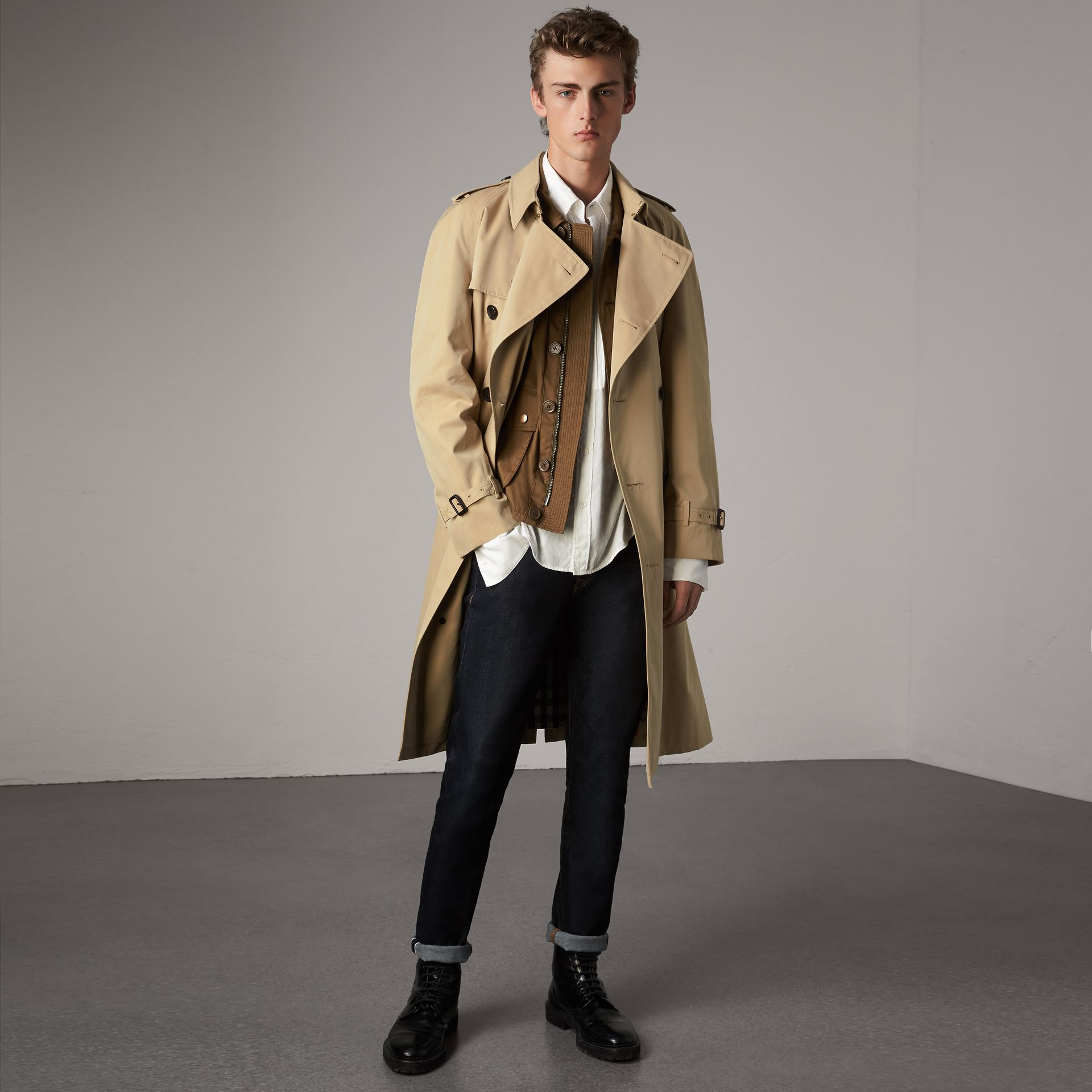 The Westminster – Extra-long Trench Coat in Honey - Men | Burberry United States - gallery image 0