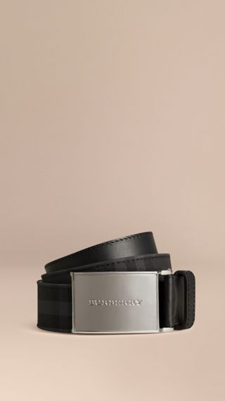 Horseferry Check and Leather Belt