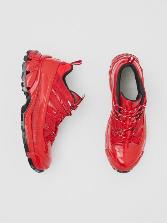 Arthur-Sportschuhe aus Nylon und Veloursleder (Rot)