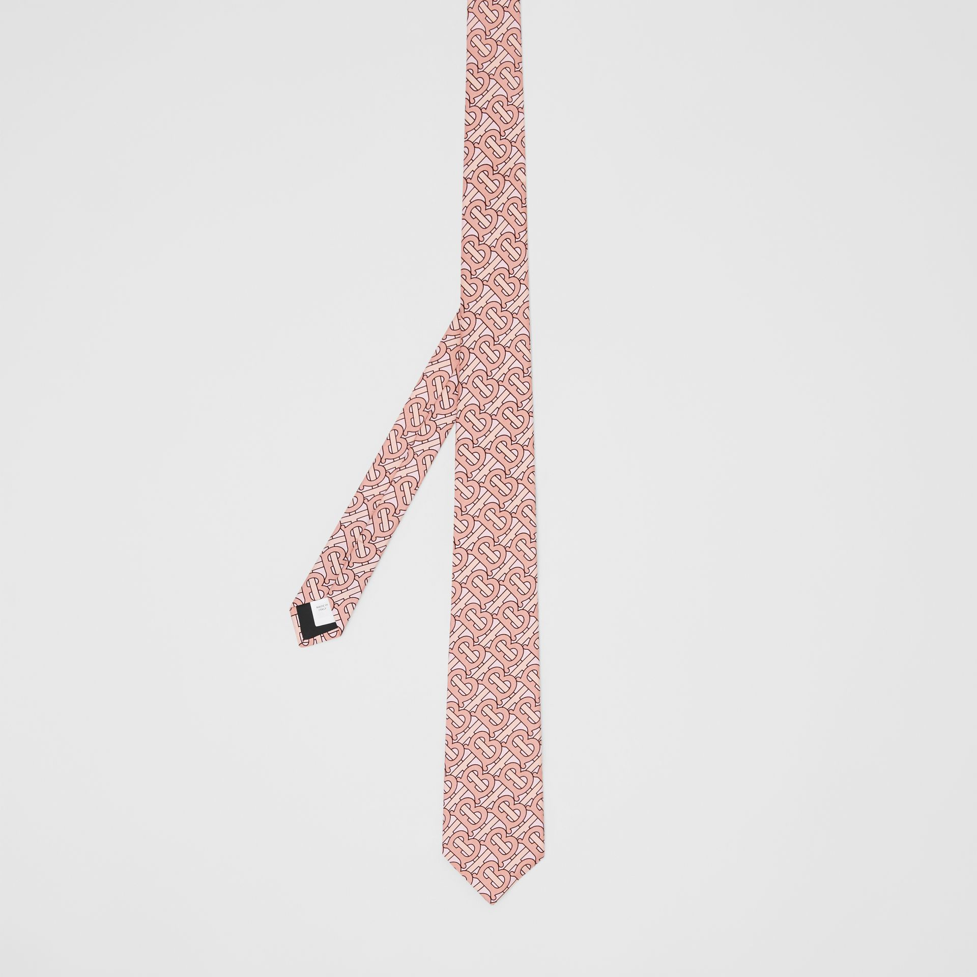 Classic Cut Monogram Print Silk Tie in Pale Copper - Men | Burberry - gallery image 4