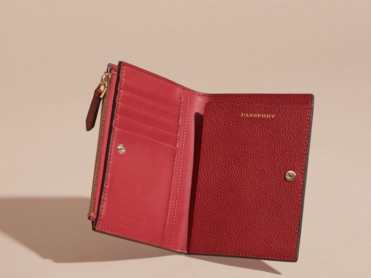 Leather Passport Wallet in Parade Red - cell image 4